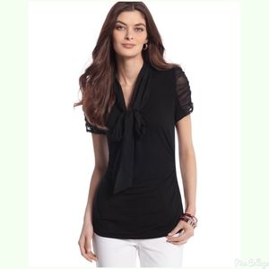 NWT WHBM Ruched tie too blouse xs